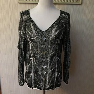 Free People Loose Knit Pull Over Sweater